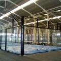 de acero; de vidrio; para el deporte; para la construccion; prefabricado
