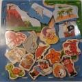 aus holz; für kinder; spielzeug; puzzle; blau; sperrholz