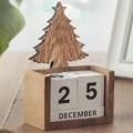 bedrukt; van hout; kalenders; houders; kerstbomen