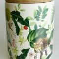 aus holz; behälter; deckel; keramik