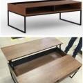 med metallstomme; möbler; med plast; ram; trä; bord; lackerad;…