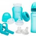 warenzusammenstellung; aus glas; für babys; tischgeschirr; flasche;…