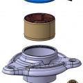 din oţel; din metale comune; inel, formă