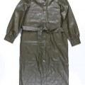 con cremallera; de plástico; vestido; de poliuretano; prenda