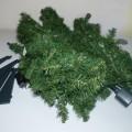 aus kunststoff; für die dekoration; weihnachtsartikel; led; grün
