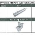 de aluminio; de metal comun; celula solar; soporte; herraje;…