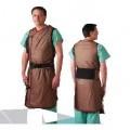 de tejido; sin mangas; delantal; ropa protectora; producto textil