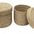 made up; paper; of paper; baskets; with paper