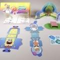 aus pappe; für kinder; spielzeug; kombination; spieltier